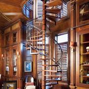现代旋转实木楼梯