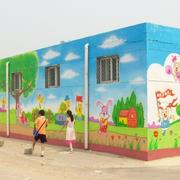 甜美幼儿园墙面壁画设