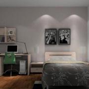 后现代简约风格卧室背景墙装饰