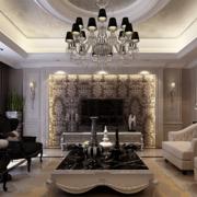 后现代风格洋房客厅沙发装饰