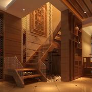 整体简约风格原木浅色楼梯装饰