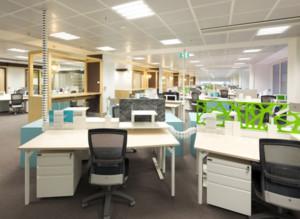 现代都市办公室办公桌装修效果图片