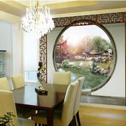 中式餐厅拱形门装饰
