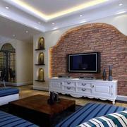 地中海风格客厅电视背景墙装饰