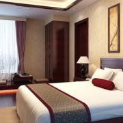 中式复古卧室床头背景墙装饰