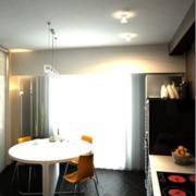 后现代风格厨房简约射灯