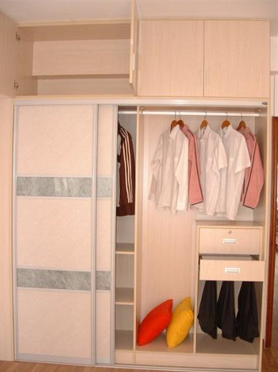 清纯淡雅整体衣柜设计图