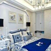 欧式奢华风格卧室石膏板吊顶装饰