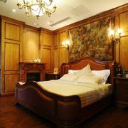 美式风格房间壁纸装饰
