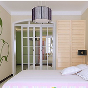 清新风格卧室壁纸效果图