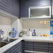 韩式清新紫蓝色厨房橱柜装饰