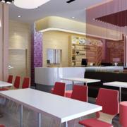 现代简约风格清新餐厅设计