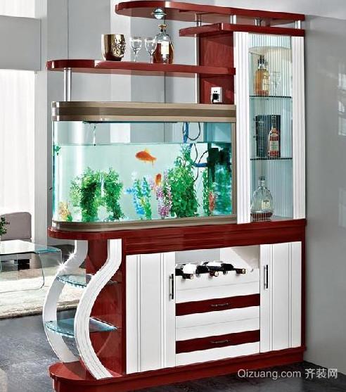 家庭鱼缸 造景玄关 隔断装修设计效果图