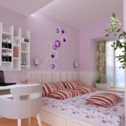 浅色粉色系榻榻米儿童房装饰