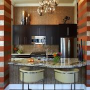 简约风格厨房大理石吧台装饰