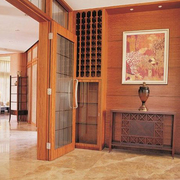 日式简约风格原木玄关装饰