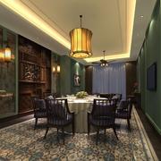东南亚餐厅酒柜装饰