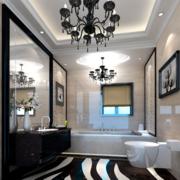 欧式风格深色系卫生间装饰