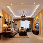 欧式经典深色系客厅装饰