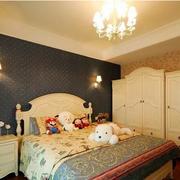 地中海风格室内卧室床头背景墙装饰