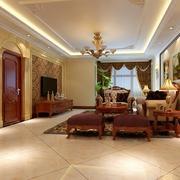 中式风格简约客厅吊顶装饰