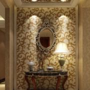欧式奢华别墅玄关镜饰装饰