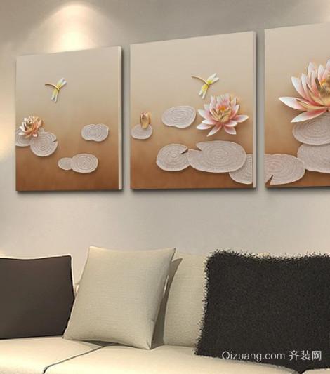 客厅3d立体画沙发背景墙装修效果图