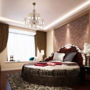 欧式奢华卧室圆床装饰