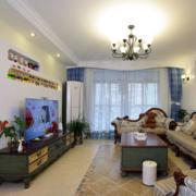 小型单身公寓客厅电视背景墙