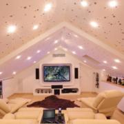 欧式粉色系阁楼客厅装饰效果图