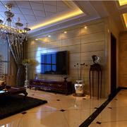 美式简约风格客厅密集式地板装饰