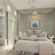 现代简约风格卧室壁纸装饰
