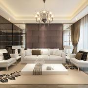 欧式简约风格软包沙发背景墙