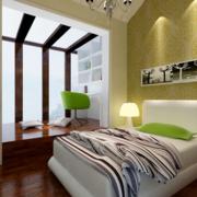 美式简约风格卧室墙衣装饰