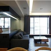 100平米房屋简约风格电视背景墙装饰