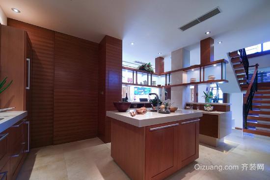 现代都市中式风格厨房装修效果图
