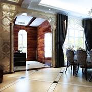 欧式别墅经典风格玄关装饰