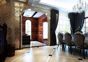 大户型高贵典雅的欧式玄关设计效果图大全