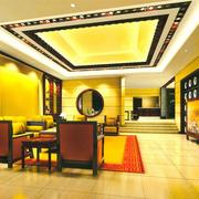 中式餐厅后现代风格吊顶装饰