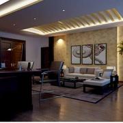 大型私人办公室沙发装饰