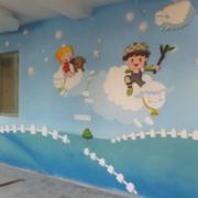 温馨幼儿园背景墙装修