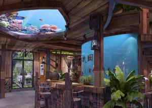 美式简约风格原木餐厅装饰