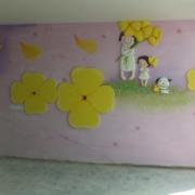 潮流幼儿园背景墙装修