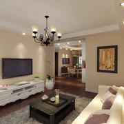 现代简约风格客厅石膏线装饰