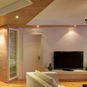 日式简约风格纯色电视背景墙装饰