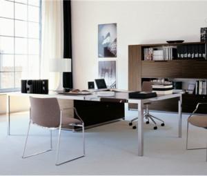 后现代风格办公室桌椅装饰