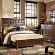 美式原木材料卧室装饰
