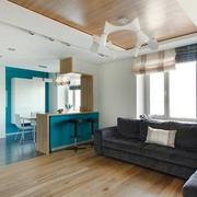 100平米房屋原木客厅装饰