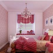 粉色系简约风格卧室欧式榻榻米