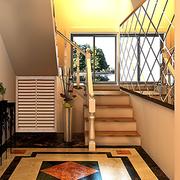 简欧风格小型楼梯装饰